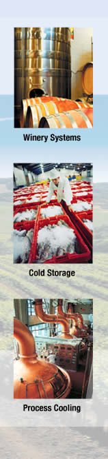 Winery Systems, Cold Storage, Process Cooling